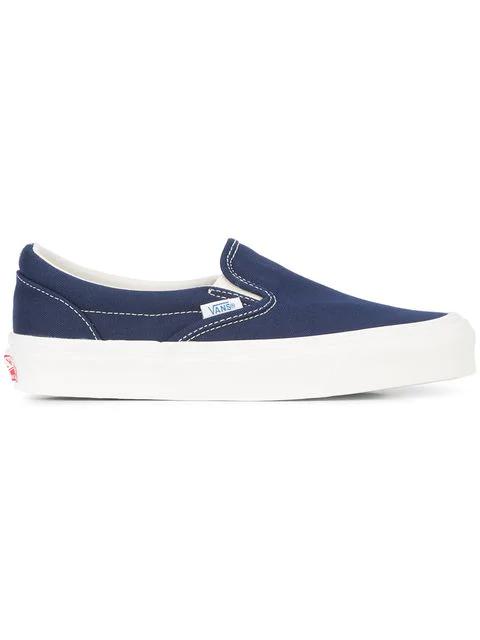 Vans Og Classic Lx Canvas Slip-On Sneakers In Peacoat