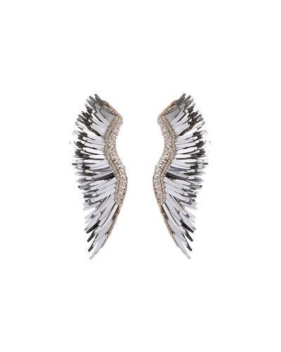 Mignonne Gavigan Madeline Beaded Statement Earrings In Silver