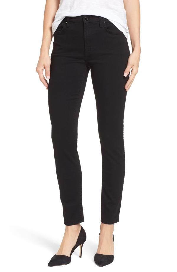 Jen7 Skinny Jeans In Riche Touch Black Noir