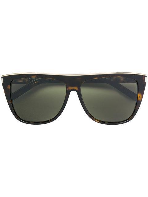 Saint Laurent Combi Sl 1 Sunglasses In Brown