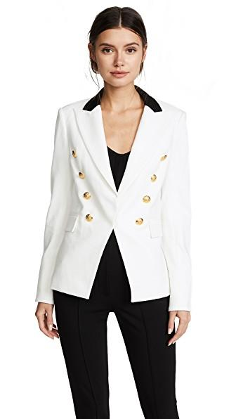 Veronica Beard Jack Riding Jacket In White