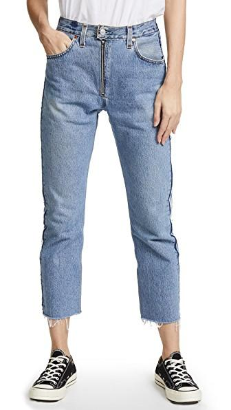 7eaa12f2ae703 Re Done X Levi. RE DONE. X Levi s High Rise Relaxed Zip Crop Jeans ...