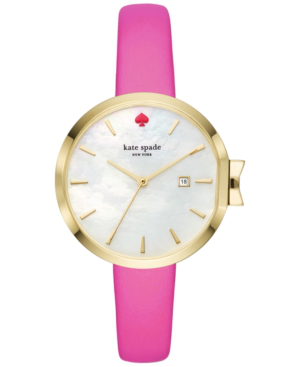 Kate Spade Park Row Watch In Pink