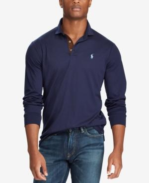 240203d1ed Polo Ralph Lauren Classic Fit Soft-Touch Long Sleeve Polo Shirt In French  Navy