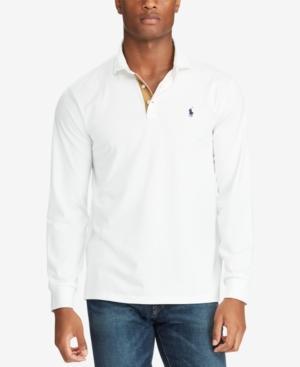 903e027da5 Polo Ralph Lauren Classic Fit Soft-Touch Long Sleeve Polo Shirt In White