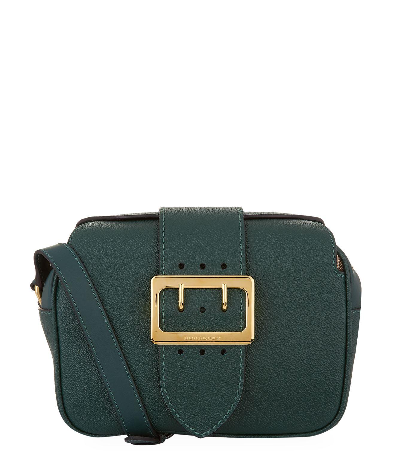 7f34ff674999 Burberry Small Buckle Leather Crossbody Bag - Green