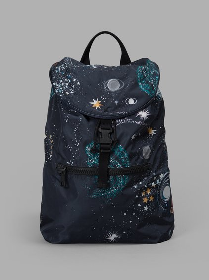 Valentino Garavani Cosmos Backpack In Blue