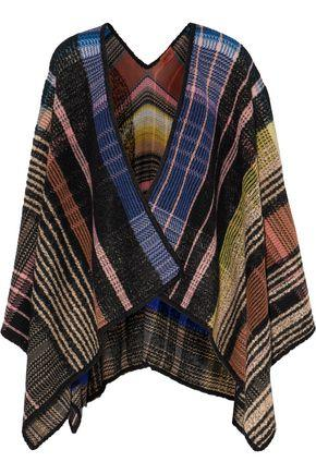 Missoni Woman Checked Wool-Blend Wrap Multicolor