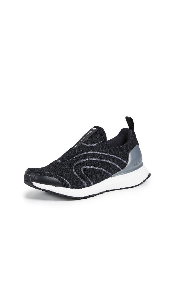 Adidas By Stella Mccartney Uncaged Ultraboost Primeknit Sneakers In Black/metallic/eggshell Grey