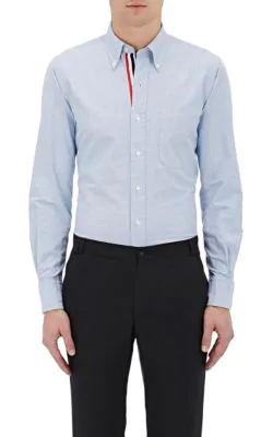 a4751227e576 Thom Browne Slim-Fit Button-Down Collar Cotton Oxford Shirt In Blue ...
