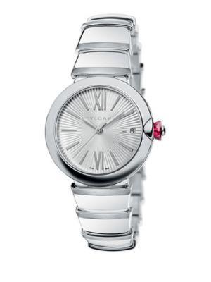 Bvlgari Lvcea 36Mm Stainless Steel Bracelet Watch In Silver