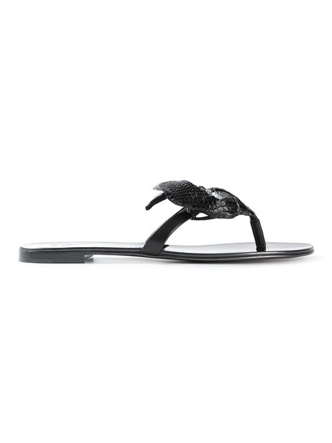 Giuseppe Zanotti Flower Sandals In Black