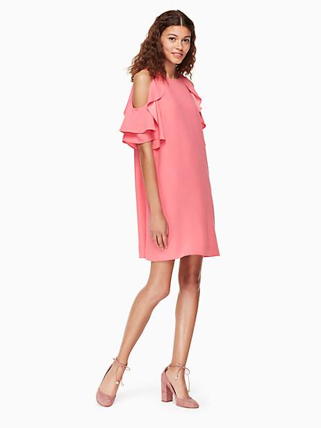 Kate Spade Cold Shoulder Crepe Dress In Petunia