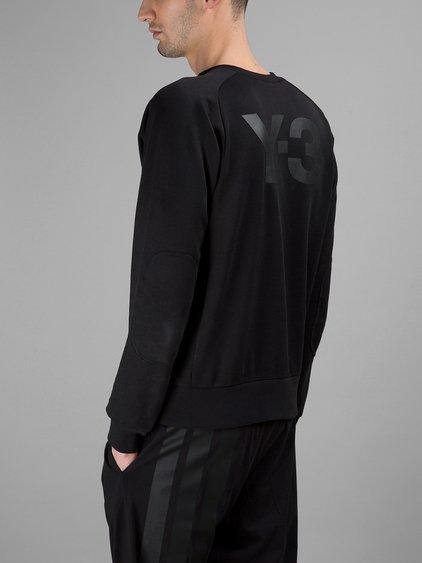 Y-3 Logo Classic Cotton Sweatshirt, Black