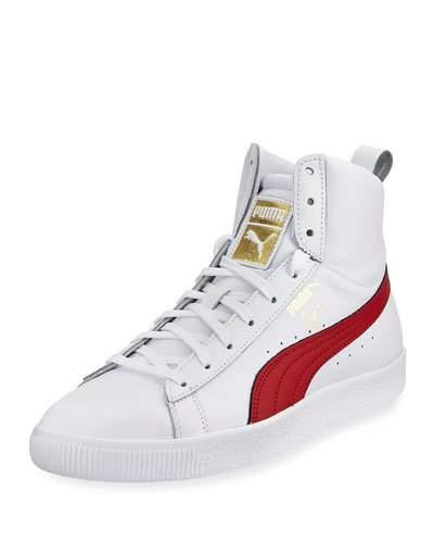 e12bb97a7b6f6d Puma Men S Clyde Mid Core High-Top Leather Sneakers