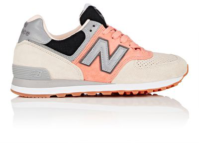 New Balance 574 Suede Sneakers In Pink