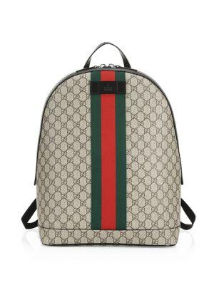 37ad3dda78e Gucci Men s Gg Supreme Web Backpack With Laptop Sleeve In Beige ...