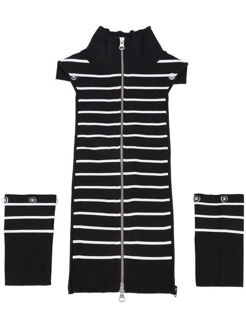 Veronica Beard Regan Striped Dickey - Black