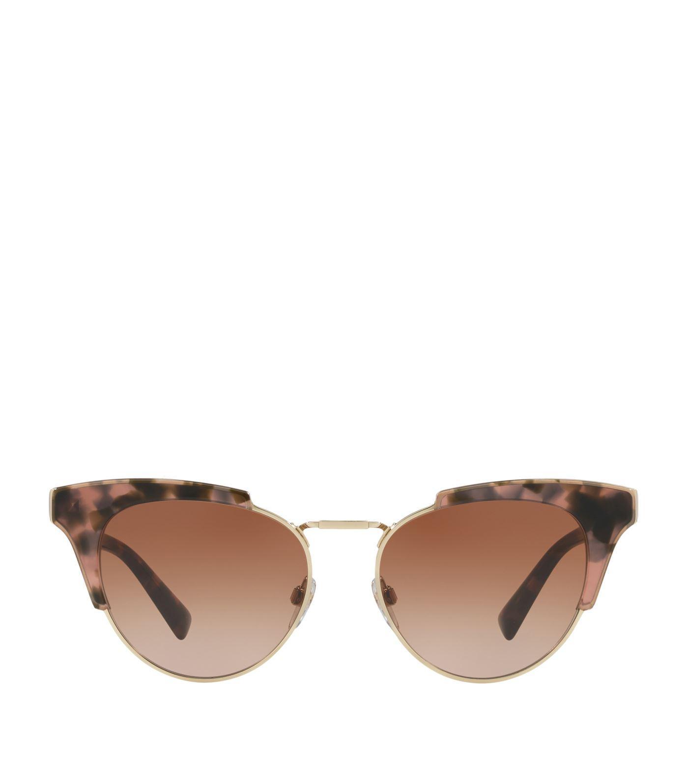 6968412c1d0 Valentino Tortoiseshell Cat Eye Sunglasses In Brown