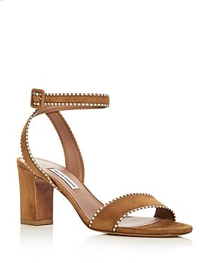 Tabitha Simmons Women's Leticia Suede Ankle Strap High-Heel Sandals