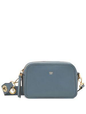 b0e1750552ce Fendi Logo Leather Camera Bag - Blue