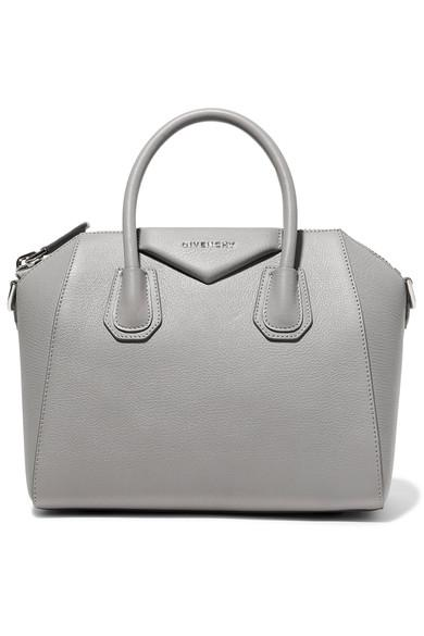 Givenchy Antigona Small Textured-Leather Tote In Gray  3c92393ab1161