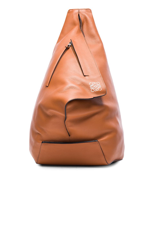 Loewe Anton Leather Backpack In Tan