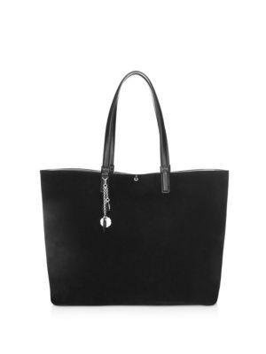 7086b58e57 Salvatore Ferragamo Scarlet Reversible Leather   Suede Tote In Black ...