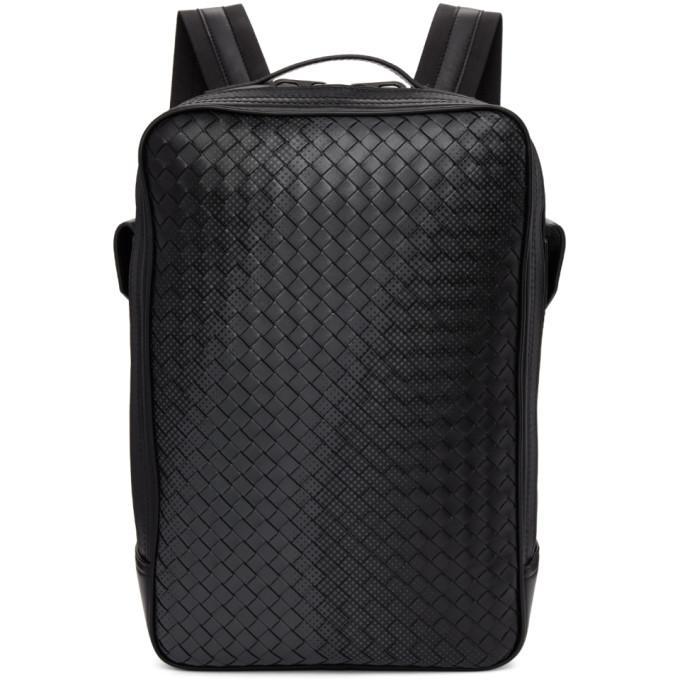 e84be0e664 Bottega Veneta Nero Intrecciato Nappa Galaxt Brick Backpack