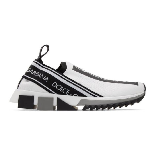 Dolce & Gabbana Dolce And Gabbana White Logo Sorrento Runner Sneakers