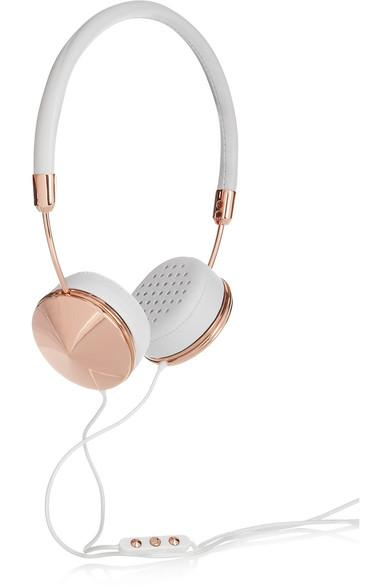 Frends Layla Leather And Rose Gold-Tone Headphones