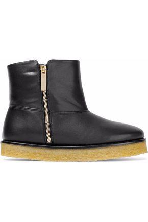 Stella Mccartney Woman Faux Leather Ankle Boots Black