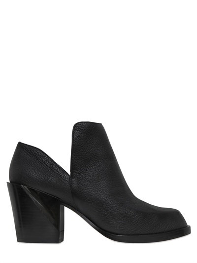 Dkny 70mm Pan Tumbled Leather Ankle Boots, Black