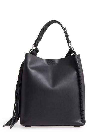 ef9981deed Allsaints Kepi Leather Shoulder Bag - Black