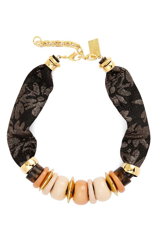 Lizzie Fortunato Nazare Beaded Necklace In Gold Multi