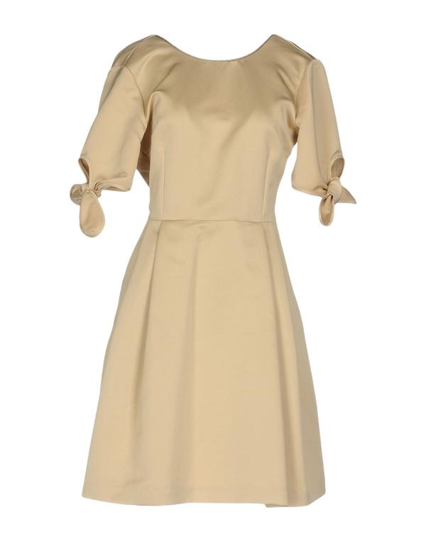 Ottod'ame Short Dress In Beige