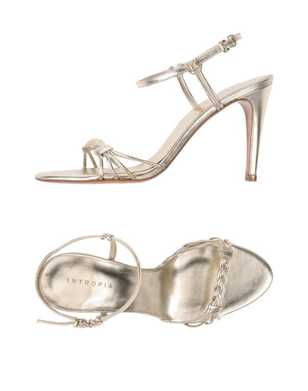 Intropia Sandals In Platinum