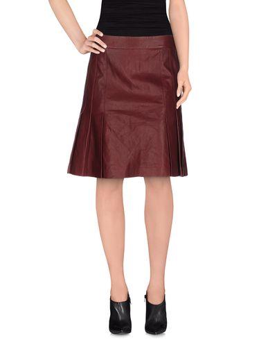 Dkny Knee Length Skirt In Deep Purple
