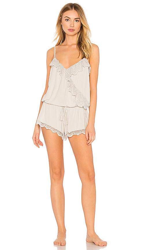 Eberjey Talia Ruffle Teddy In Gray