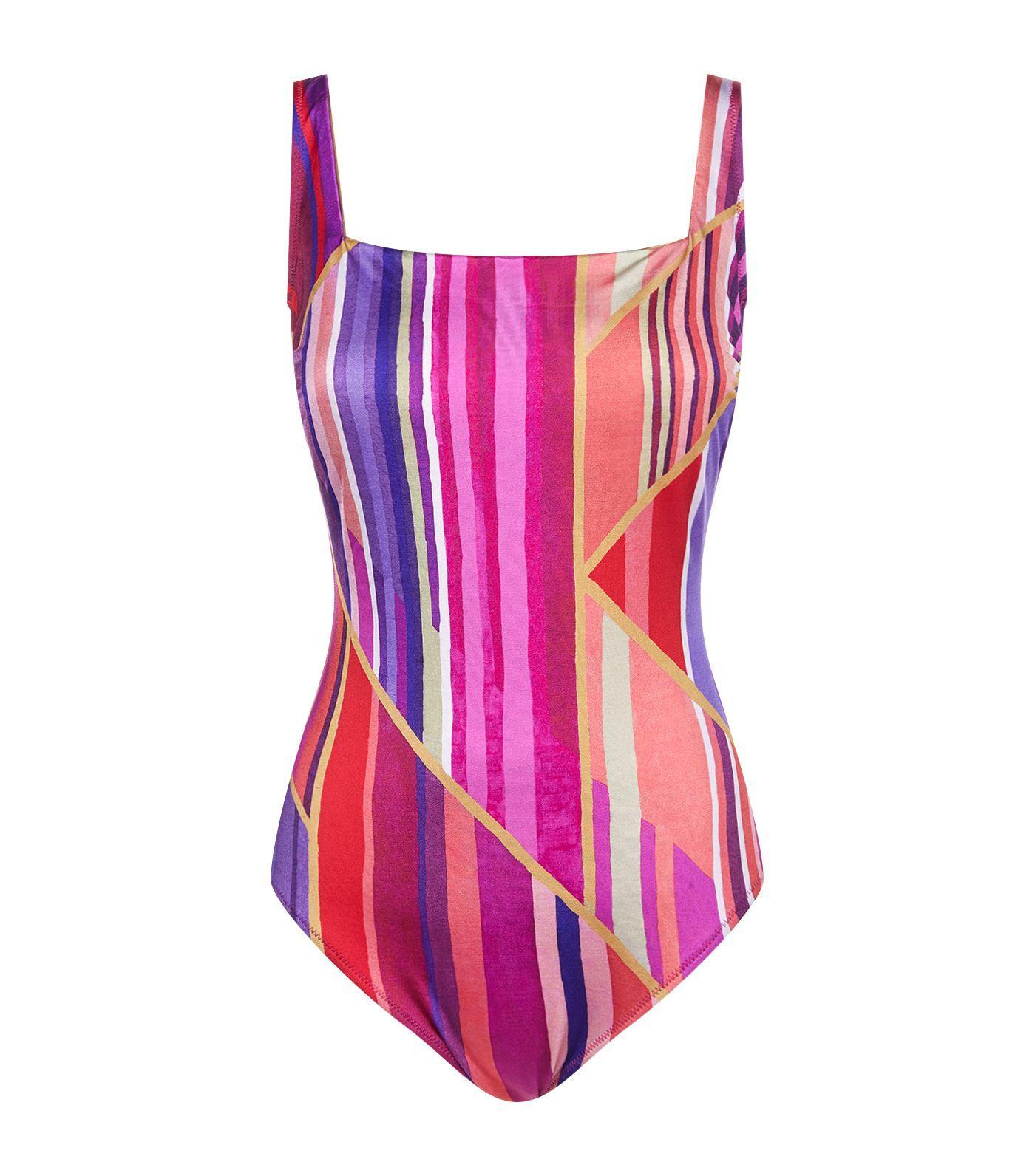 e58baed702f747 Gottex Art Deco Swimsuit In Multi | ModeSens