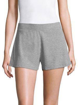 Skin Ingo Waffle-Knit Cotton-Blend Shorts In Heather Grey