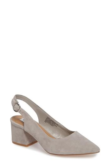 ee44a6a55dd Steve Madden Dizzy Slingback Pump In Grey Suede