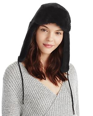 2e308eb0c98ff Ugg Quilted Nylon Trapper Hat In Black