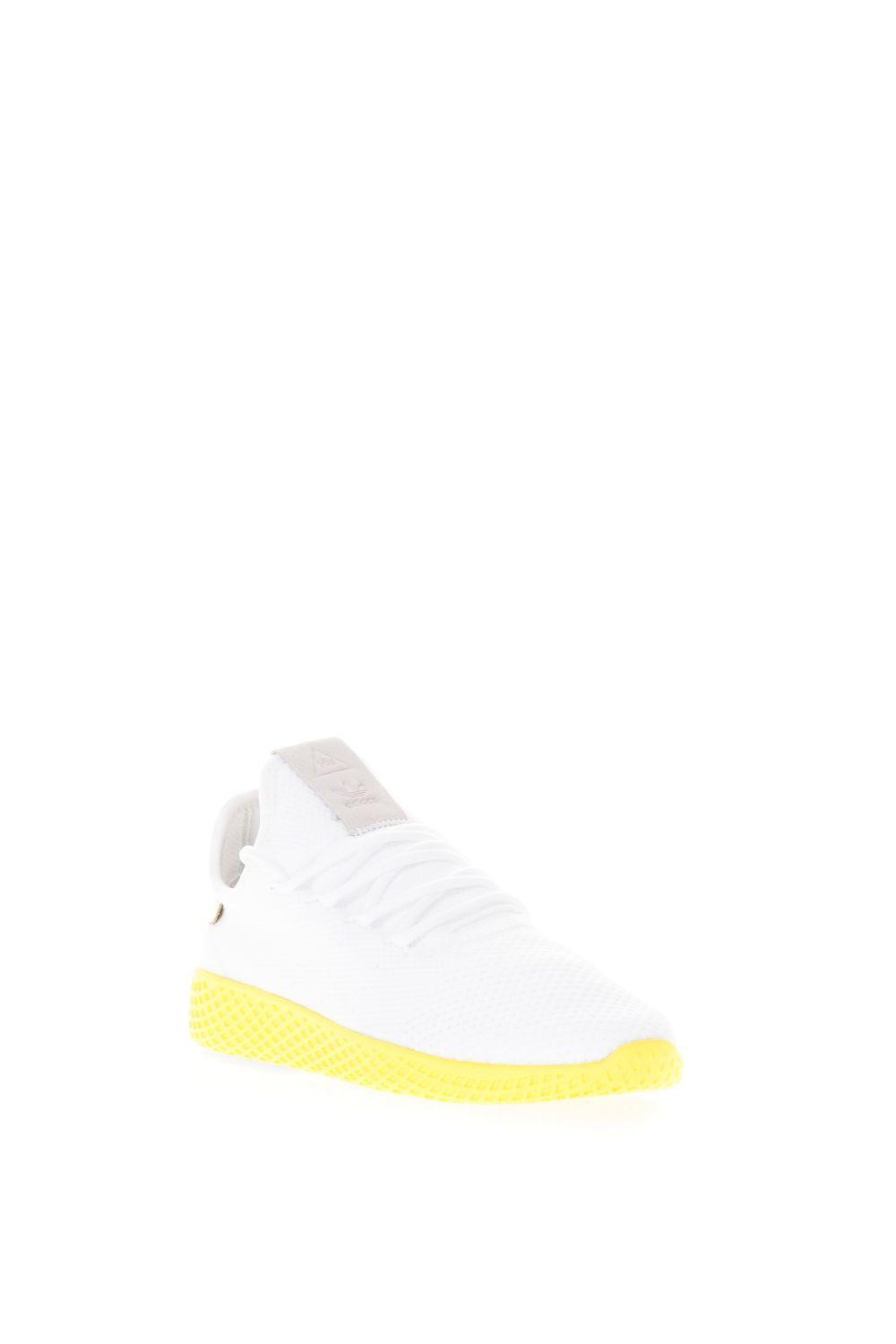 huge selection of 3dd2b 0eb41 Adidas Originals X Pharrell Williams Tennis Hu Primeknit Shoes In  White-Yellow