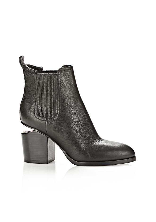Alexander Wang Black Notched Heel Gabriella Ankle Boots