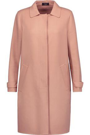Theory Woman Wool-Blend Coat Antique Rose