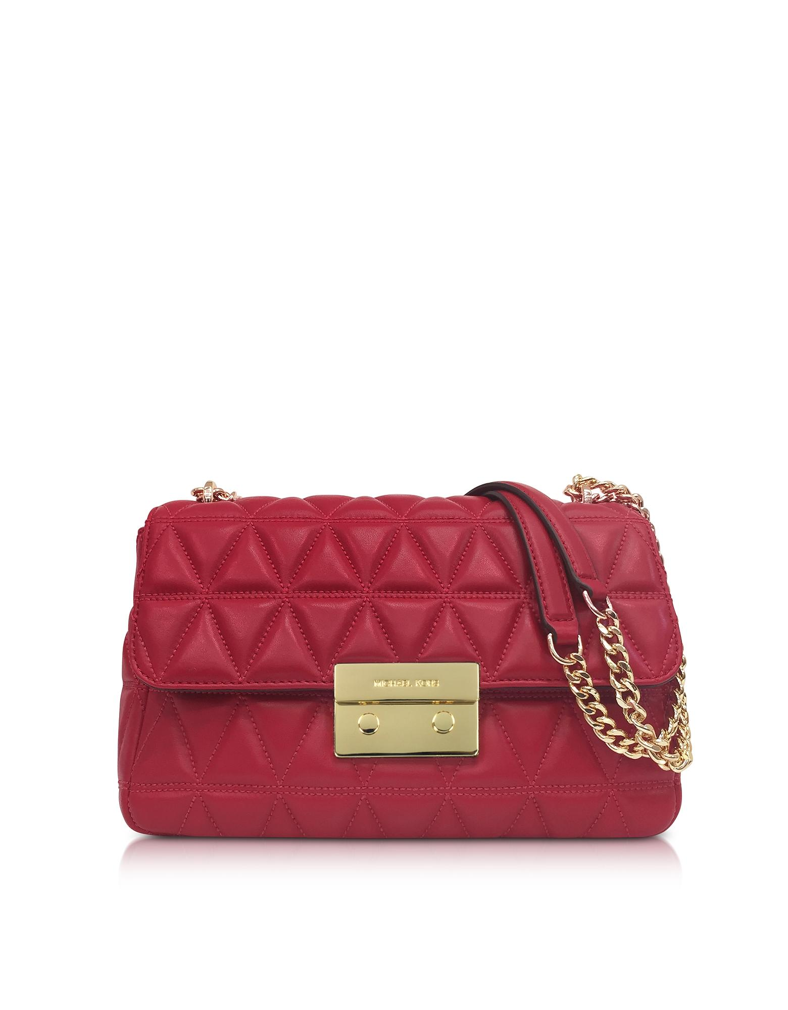 7bdf2e68648d6 Michael Kors Bright Red Sloan Large Quilted-Leather Shoulder Bag ...