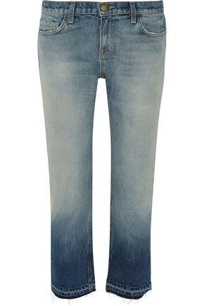 Current Elliott Woman The Cropped Mid-Rise Straight-Leg Jeans Light Denim In Mid Denim