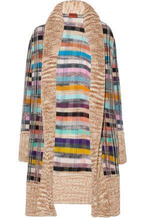 Missoni Woman BouclÉ-Paneled Crochet-Knit Wool-Blend Cardigan Multicolor