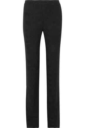 Missoni Woman Crochet-Knit Wool Straight-Leg Pants Black